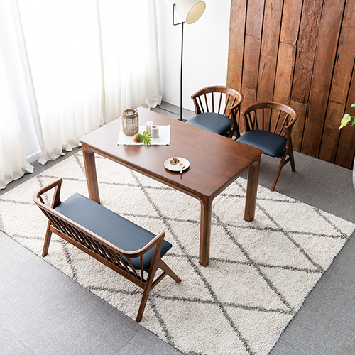 투어 고무나무 원목 4인 식탁세트
